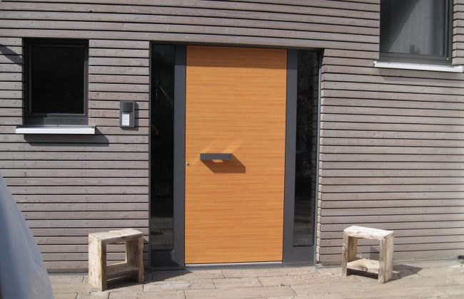 Holz-Aluminium Haustüre Dekor Douglasie