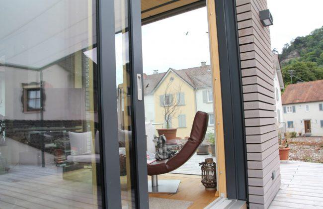 Holz Aluminium Fenster Innen- und Außenansicht
